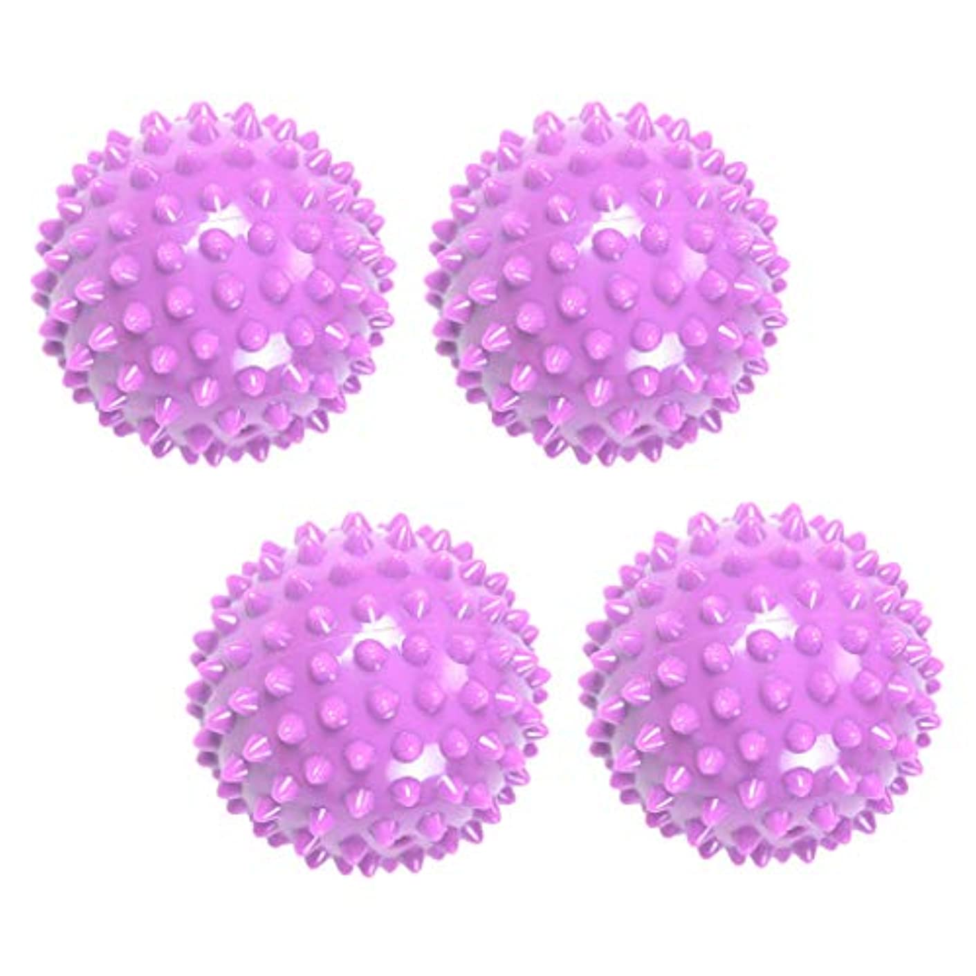 入力パスタ物理学者マッサージボール リフレックスボール 触覚ボール ツボ 刺激 マッサージ 突起 健康用品 4個入り