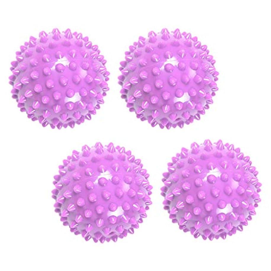 慢な再生可能トムオードリースマッサージボール リフレックスボール 触覚ボール ツボ 刺激 マッサージ 突起 健康用品 4個入り
