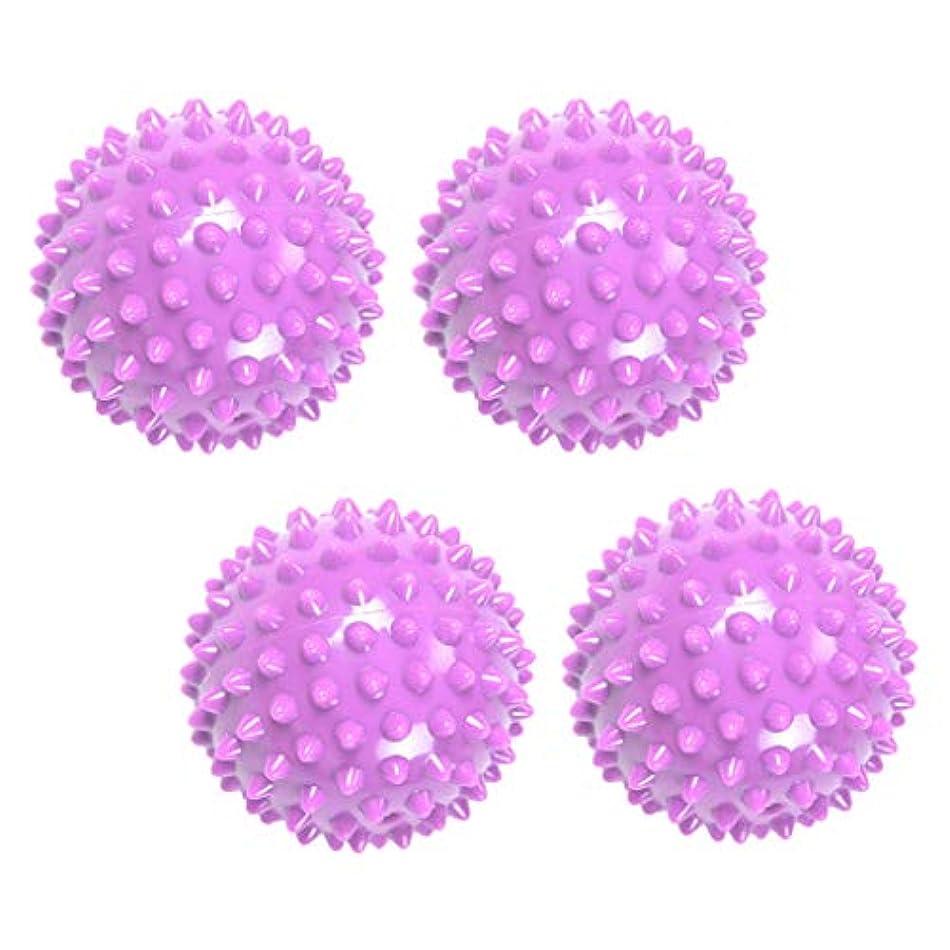 バクテリアドレイン違反Baoblaze マッサージボール リフレックスボール 触覚ボール ツボ 刺激 マッサージ 突起 健康用品 4個入り