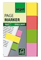 Sigel hn630ページマーカーBrillant、Stickyフラグ、インデックスタブフラグ、細い半透明(イエロー、オレンジ、グリーン、ピンク、0.79X 1.97インチ、160ストリップon aボード