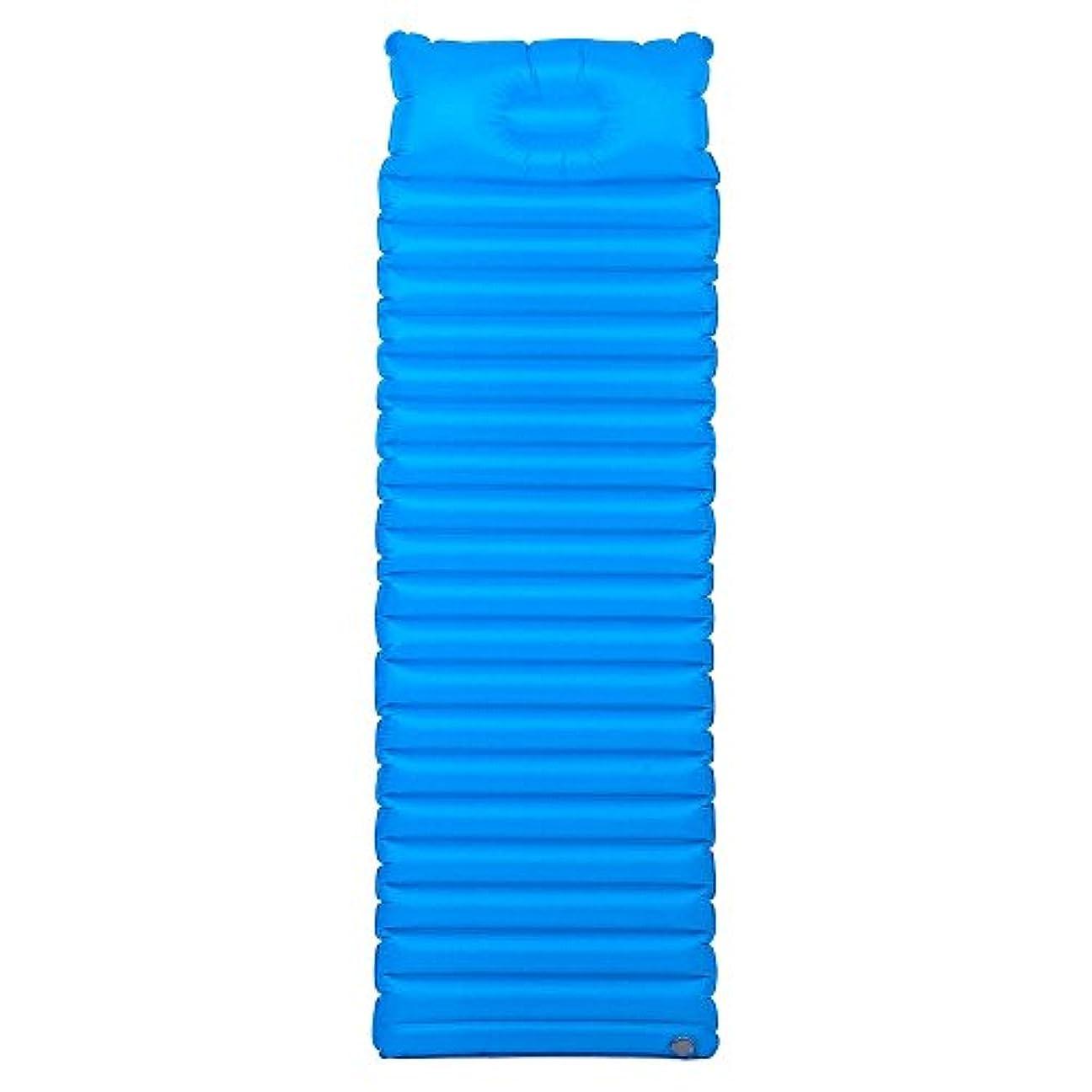 求人処理する比類のないキャンプインフレータブルマット屋外キャンプに適した超軽量の統合TPUポータブル屋外エアクッションキャンプ旅行、シングルベッド ( 色 : 青 )