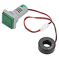 Acogedor 0-100Aデジタル電流計 LEDインジケータあるの電流計 高精度 優れた安定性 赤、緑、黄色 (グリーン)