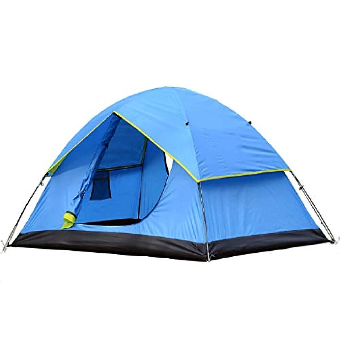 皮詳細なメンタリティYONGFEIhun テント、二重屋外テント、キャンプテント、二重防風と防雨、ビーチテント、190Tポリエステル布防雨、防雨インデックス:1500mm
