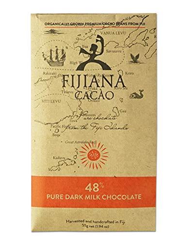 ラッピング選択可【チョコレート界のミシュラン本で4つ星獲得!】大人のミルクチョコ ★ FIJIANA (フィジアナ) カカオ48% ダークミルクチョコレート ( 無添加 / 南国 フィジー 産)55g ホワイトデー プレゼント に人気!