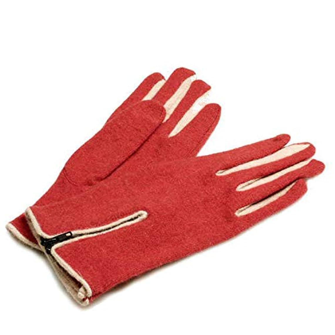 ブームかなりの有名人秋と冬レディースフィンガー手袋ショートセクション厚手のウール手袋乗馬ウォーム手袋を運転する