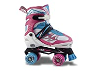 Row Skates Joy、ビンバローラースケート、ホワイト/ピンク/ブルー、35〜38