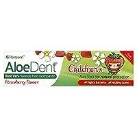 Optima Aloe Dent Children's Strawberry Tooth Paste (75ml) オプティマアロエ凹み子供のイチゴ歯ペースト( 75ミリリットル)