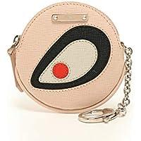 (フェンディ) FENDI バッグバグズ ラウンドファスナー コインケース レザー ピンク 黒 白 赤 中古