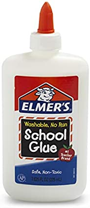 Elmers Liquid PVA Glue, White, Washable & Nontoxic, 225 ml, Great for Making S
