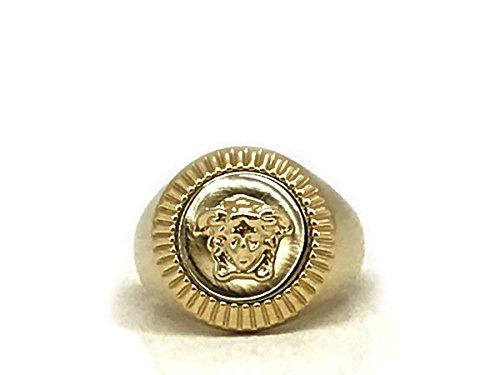 (ベルサーチ) VERSACE ロゴ リング・指輪 メデューサ ゴールド DG5G119-DJMT-DPOC-19 [並行輸入品]