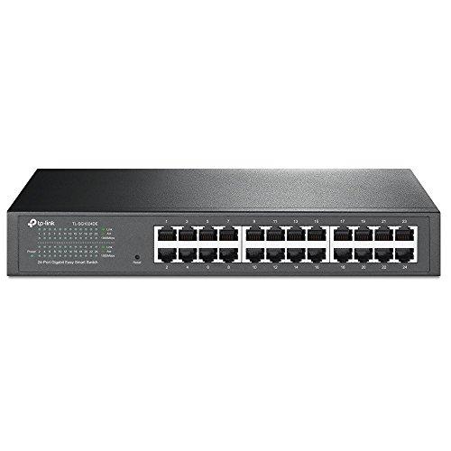 TP-Link イージースマートスイッチ 24ポート 10/100/1000Mbps Giga対応 管理機能付 金属筺体 5年保証 TL-SG...