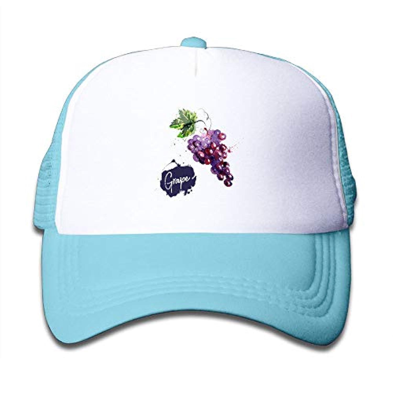 子ども グリッドキャップブドウ おしゃれな 軽量 メッシュ帽子 オスとメス 通用