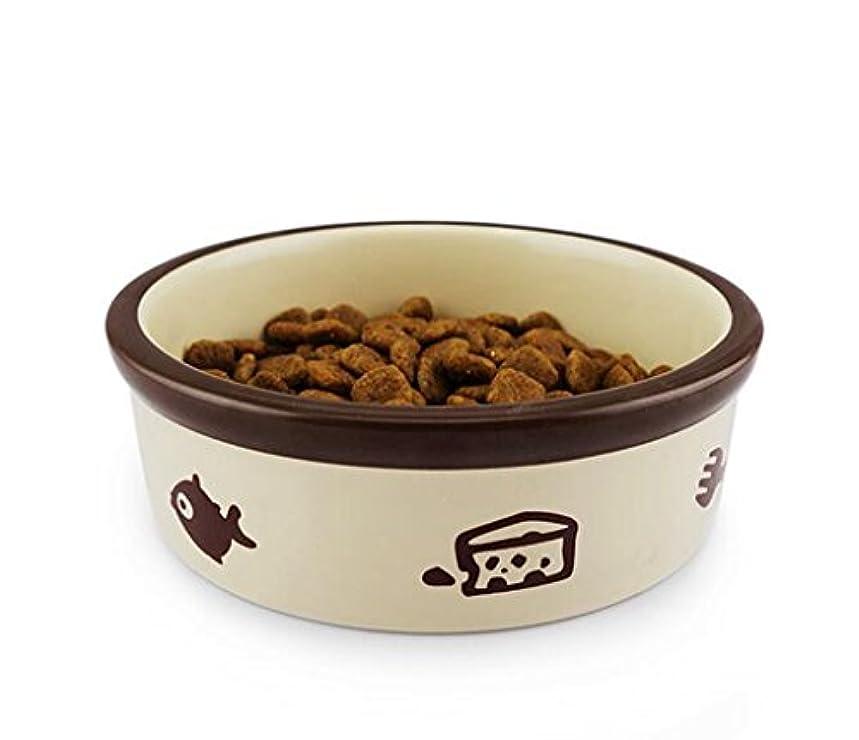 ペット用品趣味の絵柄ペットの碗のステンレス碗の小型犬は猫が適用する (茶碗の口サイズ:12.5cm,碗の高さ:4cm)