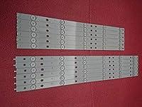 XM New Kit 5set=60 PCS LED backlight strip Replacement for 50pfk6510 500TT41 500TT42 v4