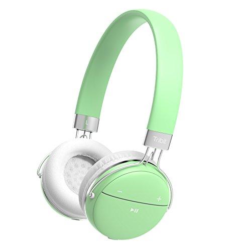Tribit bluetooth ヘッドホン 密閉型 リモコン・マイク付 高音質 14時間再生 超軽量 ハンズフリー通話可能 ワイヤレスヘッドホン ステレオヘッドホン 日本語取扱説明書あり ギフト 18ヶ月保証 青春 XFree move (ミントグリーン)