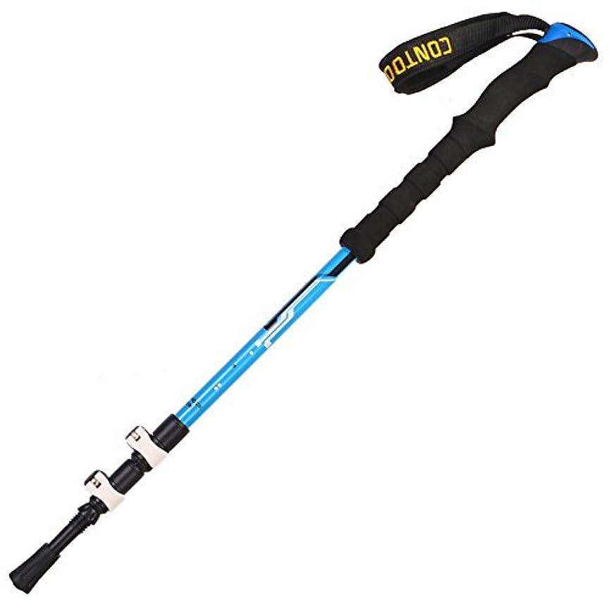 経験的呼吸するはちみつストレートハンドル 杖, 軽量 杖?ステッキ 屋外 炭素繊維 松葉杖 折り畳み式 テレスコ ピック 機器 3つのトレッキングポール