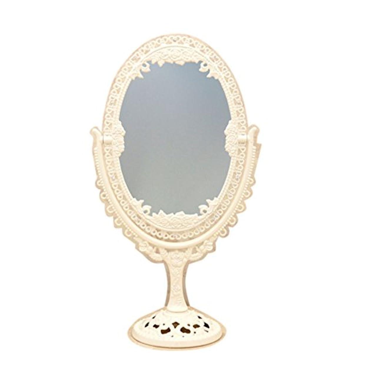 干渉言うまでもなく冷凍庫置き鏡 アンティーク風 アクセサリーホルダー アルテミス テーブルミラー:int-ak-sw-0920 (Ivory)