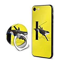 SuperIE IPhone 7 IPhone 8 専用 ケース リング付き 英語アルファベットシャチ ソフト 耐衝撃 指紋防止 全面保護 軽量 スクラッチ防止 スマホ アイフォンケース