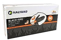 Halyard Health Black Fire Nitrile Exam Glove Medium - 150 Per Box [並行輸入品]