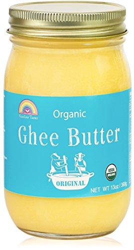 高品質 オーガニック グラスフェッド ギーバター ギーオイル大容量 13oz /368g USDA認定, Grass-Fed Organic Ghee Butter, Glass Jar 海外直送品 [並行輸入品]