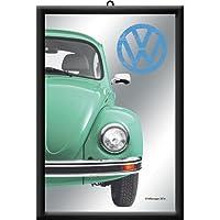 フォルクスワーゲン VW Beetle - Green / ミラー 鏡 壁掛け用