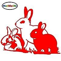 HotMeiNiかわいいウサギバニービニールカースタイリングステッカーウサギのウサギのCarBlack / 16 * 13CM:レッド