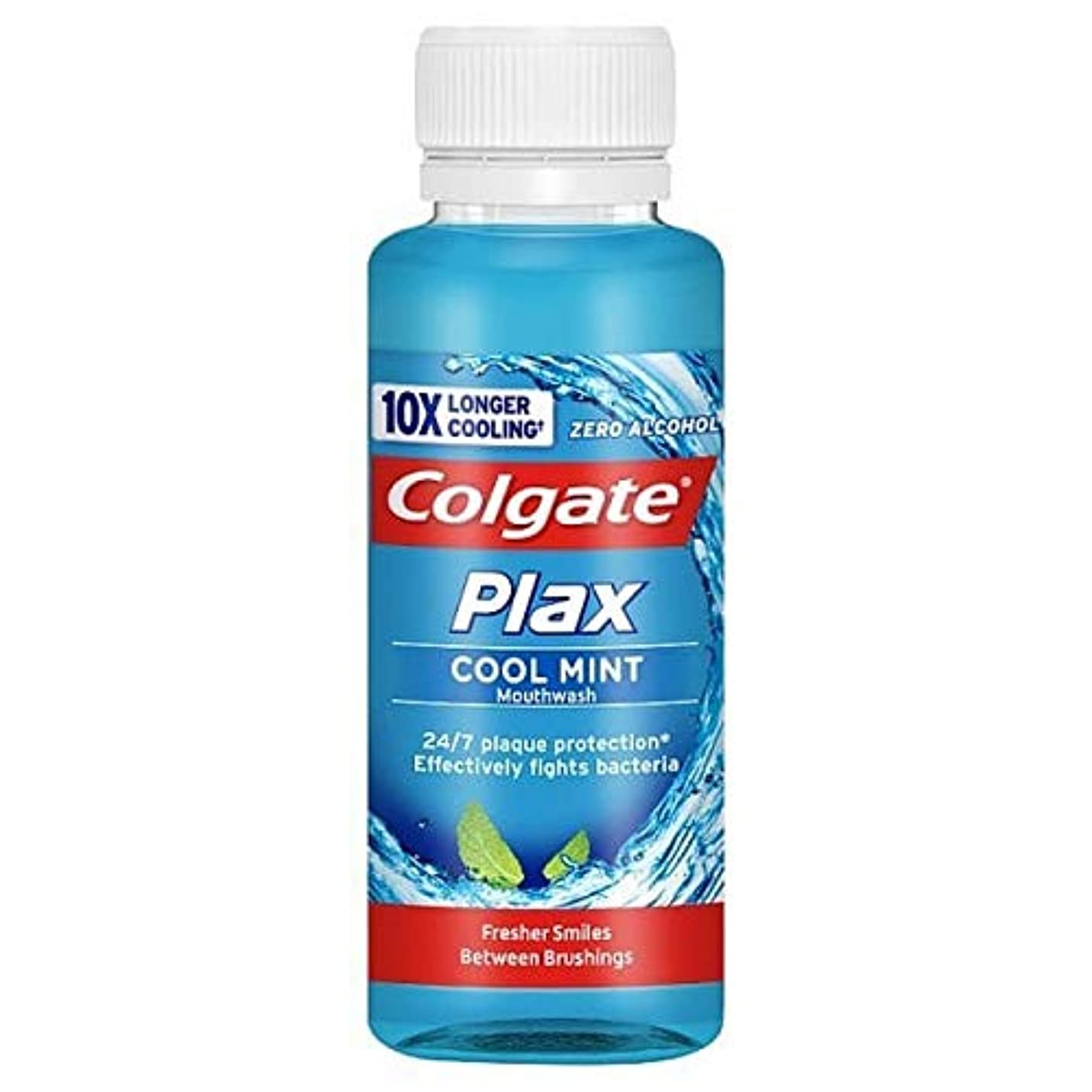 加速度重なるコジオスコ[Colgate ] コルゲートPlaxクールミントゼロアルコールマウスウォッシュ100ミリリットル - Colgate Plax Cool Mint Zero Alcohol Mouthwash 100ml [並行輸入品]