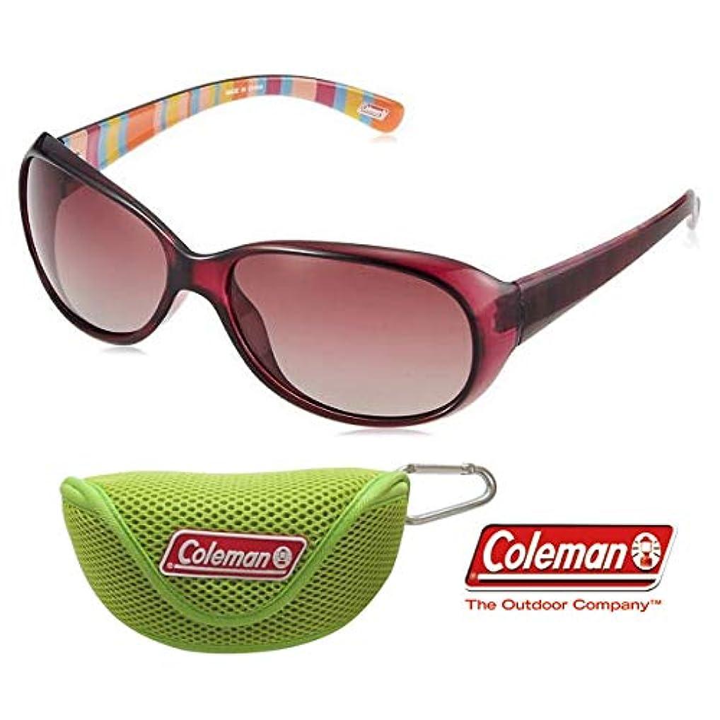 日記連帯したい【グリーンソフトケース付】レディース Coleman コールマン 偏光サングラス スモーク ドライブ ストライプ柄 おしゃれ Coleman CLA01-3