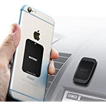 Wuteku Magnetic Cell Phone Holder Flat Kit For Car | Best Flat Dashboard Mount | Works on All Vehicles Phones & Tablets | iPhone X 8 7 & Galaxy S9 S8 & more | Top Rated by Uber & Lyft Drivers