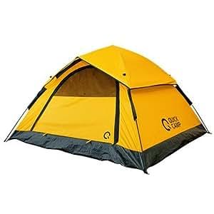 クイックキャンプ ワンタッチテント 3人用 210×190cm 撥水 UVカット サンシェードテント イエロー ALOT-001