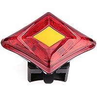 Beautyrain 1個 マウンテンバイクティアライトUSB充電警告 自転車ライトダイヤモンドフラッシュライト 赤い光