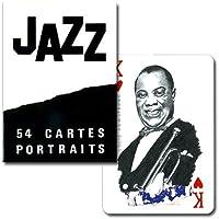 【サッチモからモンクまで。ジャズを愛する全ての人へ】トランプ・ジャズ B:白地に黒文字