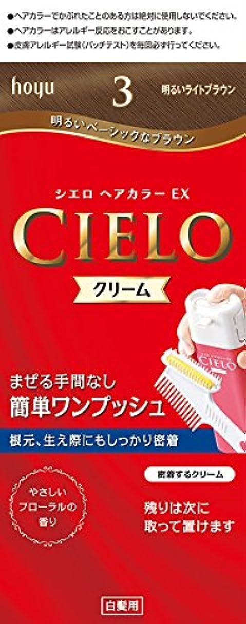 ライフル六クライマックスホーユー シエロ ヘアカラーEX クリーム 3 (明るいライトブラウン) 1剤40g+2剤40g [医薬部外品]