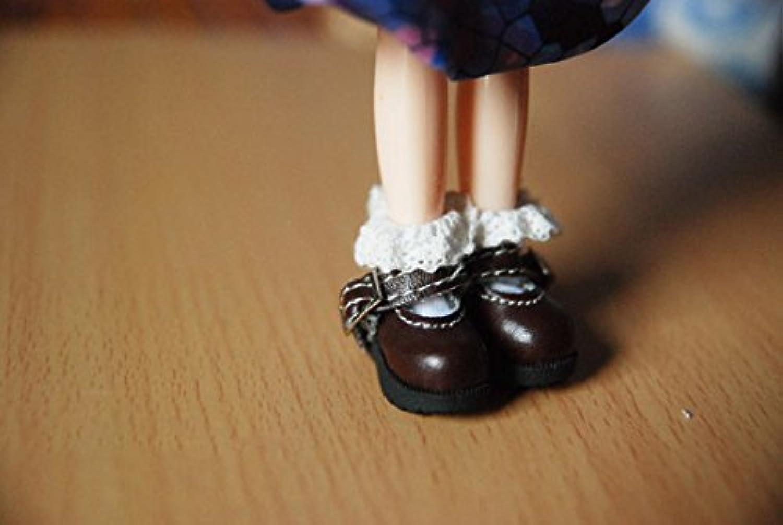 Blythe ブライス 白のフリル付き靴下 ソックス 1/6ドール用 momoko リカちゃん ジェニー プーリップなど