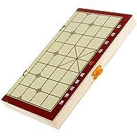 Lovoski 折り畳み式 携帯用 中国のチェス盤 木製 トラベル便利 セット ギフト