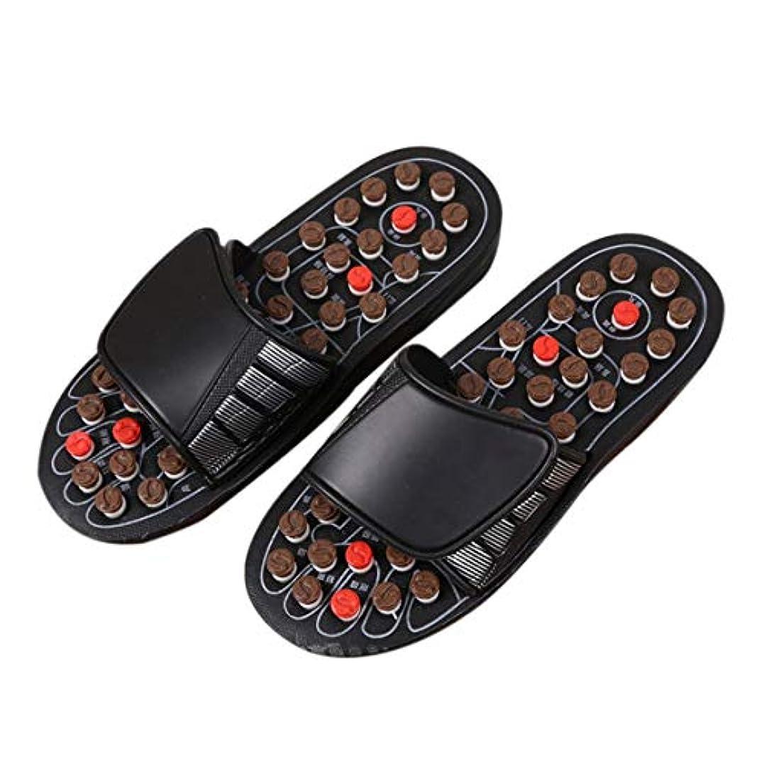 見る暴露複製1ピースブラックAcu-PointスリッパAccupressure Massage Foot Massager Flip Flop Sandals For Women Men Ka-Best-