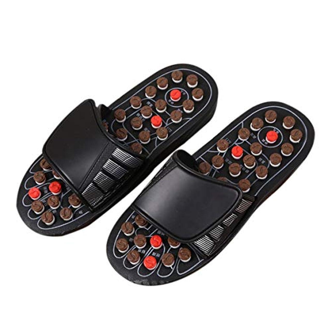 マナー費やす劇的1ピースブラックAcu-PointスリッパAccupressure Massage Foot Massager Flip Flop Sandals For Women Men Ka-Best-