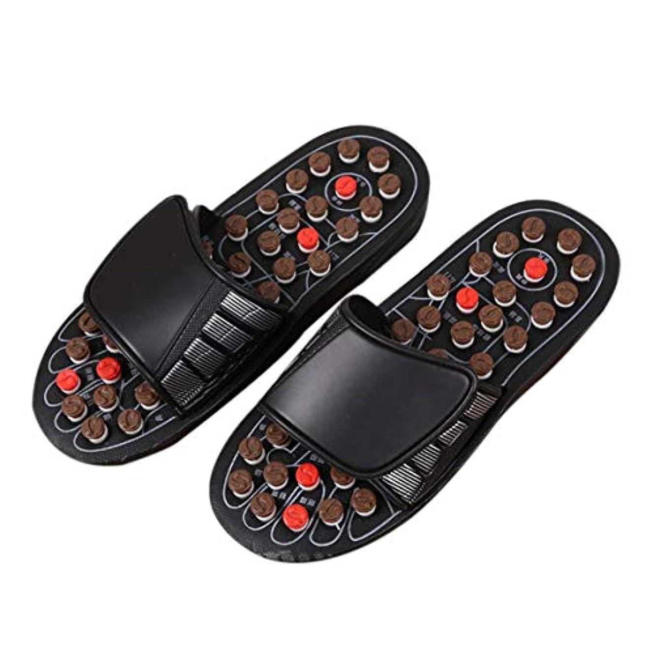 隣人下着セラフ1ピースブラックAcu-PointスリッパAccupressure Massage Foot Massager Flip Flop Sandals For Women Men Ka-Best-