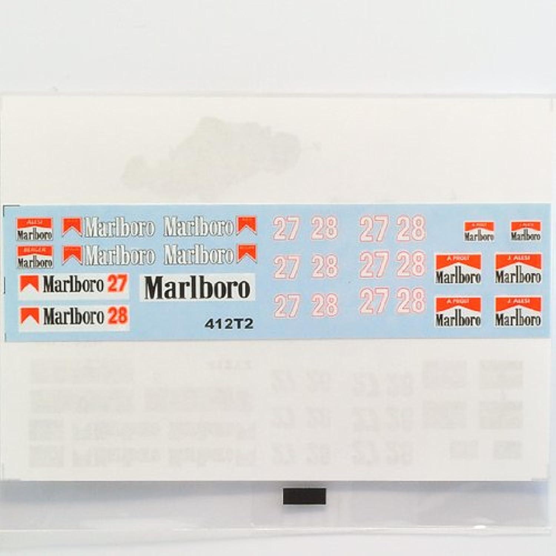 【F'artefice/エッフェアルテフィーチェ】 1/43 642 & 412T2 デカール