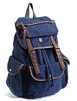 ヴィンテージバッグ キャンバス レザーバックパック クラシック風バックパック 旅行/登山/男女兼用 通勤/パーティー/レジャー/アウトドア 大容量