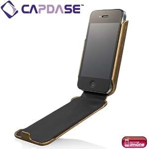 CAPDASE 日本正規品 iPhone 4S / 4 Capparel Protective Case: Forme, Bronze / Black ハンドメイド レザーケース ブロンズ / ブラック CPIH4-10V1