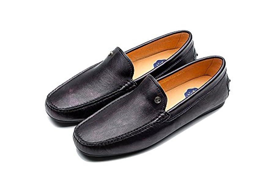 挽く啓発するガイダンス[OPP ]メンズシューズ ローファー 本革 四季通用 スリッポンカジュアル ソリッド カラー コンフォート loafer 靴