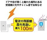 リーベックス(Revex) ワイヤレス チャイム Xシリーズ 送受信機セット 防犯 ドア窓チャイムセット X830 画像