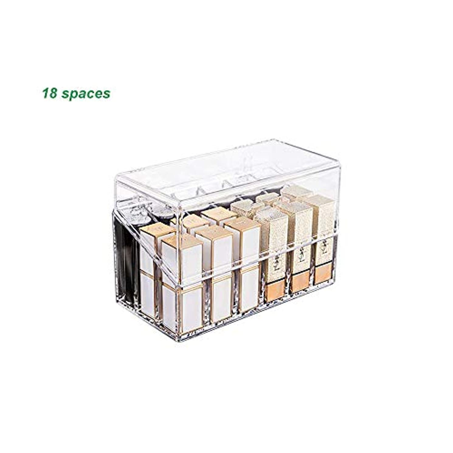口紅収納ボックス 18本 アクリル リップスティック収納ケース コスメ小物用品 化粧品収納ケース 透明