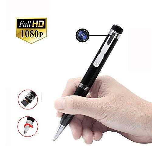 ペン型隠しカメラ UYIKOO 1080P最高画質 超小型カメラ搭載 スパイカメラ 防犯用 長い時間監視録画、証拠撮...