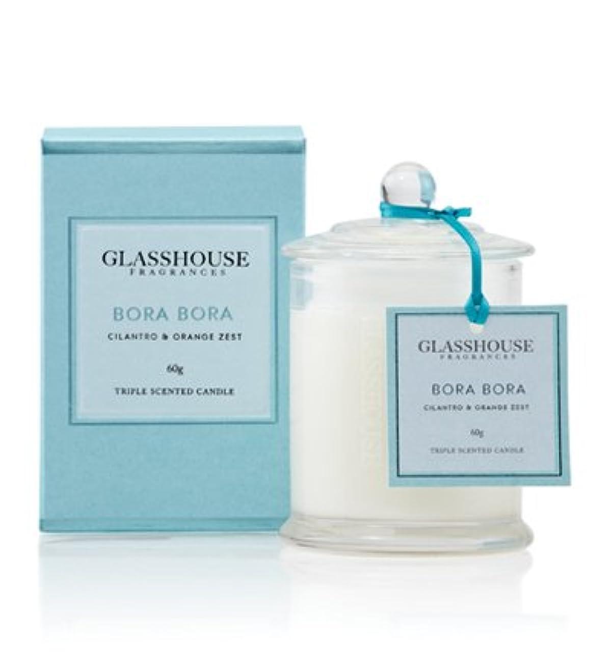 それによって貫通する宣言GLASSHOUSE グラスハウス アロマキャンドル (ボラボラ) ミニキャンドル 60g