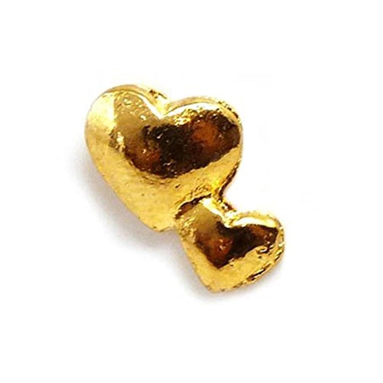 ハンカチ信者スクラップブック[スワンユニオン] swanunion キュートな2連ハート型ピアス ゴールドカラー パーティーや結婚式、プレゼントにも レディ