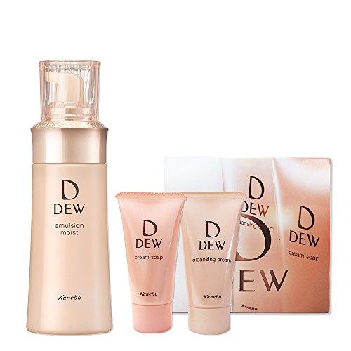 【Amazon.co.jp限定】DEW エマルジョン しっとり 本体 100ml (乳液)+DEW メイク落とし、洗顔サンプルセット