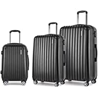 Wanderlite Hard Shell Suitcase Sets Small Medium and Large Lightweight Rolling Luggage Carry-on Case