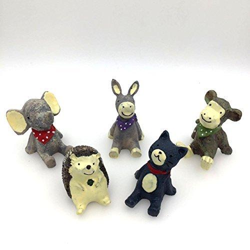 ceciI 5pcs-set、クリエイティブ装飾品、Microホーム装飾、もfor the Flower Pot Decorate ( Including Cat * 1、Donkey * 1* 1、モンキーElephant * 1、Hedgehog * 1) CECII